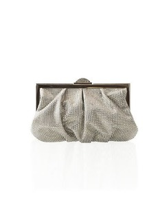 Judith Leiber Natalie Full-Bead Foiled Clutch Bag
