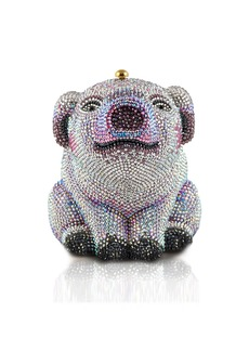 Judith Leiber Piglet Crystal Minaudiere Clutch Bag