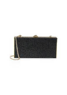 Judith Leiber Couture Rectangle Box Crystal-Studded Clutch