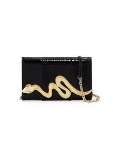 Judith Leiber Serpent Snakeskin Clutch Bag