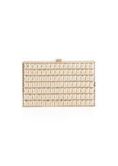 Judith Leiber Sideways Cut Crystal Clutch Bag