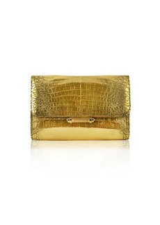 Judith Leiber Sloane Crocodile Clutch Bag
