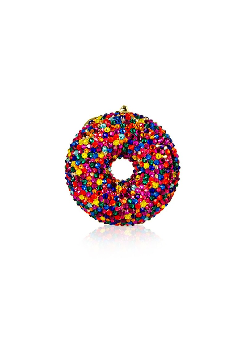 Judith Leiber Couture Sprinkles Donut Crystal Pillbox