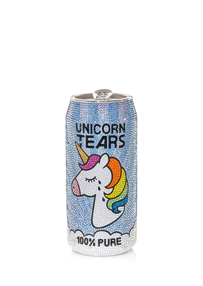 Judith Leiber Couture Unicorn Tears Beverage Can Pill Box