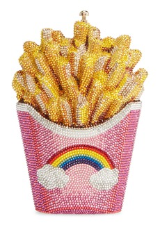 Judith Leiber Rainbow Fries Crystal Embellished Clutch