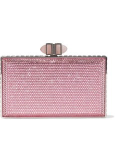 Judith Leiber Woman Crystal-embellished Box Clutch Pink