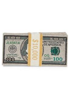 Judith Leiber Money Stack Crystal Embellished Clutch