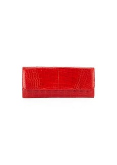 Judith Leiber Kate Cayman Crocodile Clutch Bag