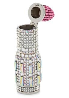 Judith Leiber Lipstick Crystal-Embellished Clutch