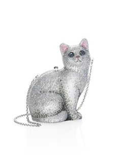Judith Leiber Marie Crystal Cat Clutch
