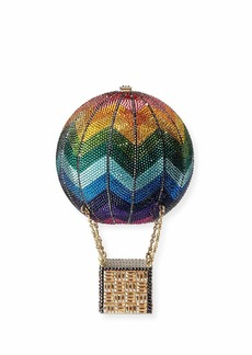 Judith Leiber Rainbow Hot Air Balloon Crystal Clutch Bag