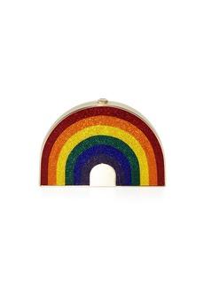 Judith Leiber Rainbow-Shaped Crystal Clutch Bag