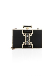 Judith Leiber Ridged Rectangle Marble Resin Clutch