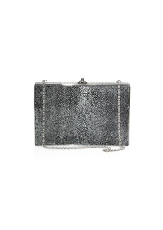 Judith Leiber Ridged Rectangle Stingray Clutch