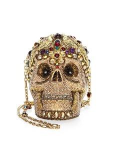Judith Leiber Sanctus Swarovski Crystal Skull Statement Shoulder Bag
