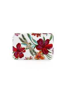 Judith Leiber Seamless Hibiscus Crystal Clutch Bag
