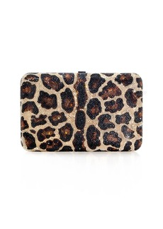 Judith Leiber Seamless Leopard Crystal Clutch Bag