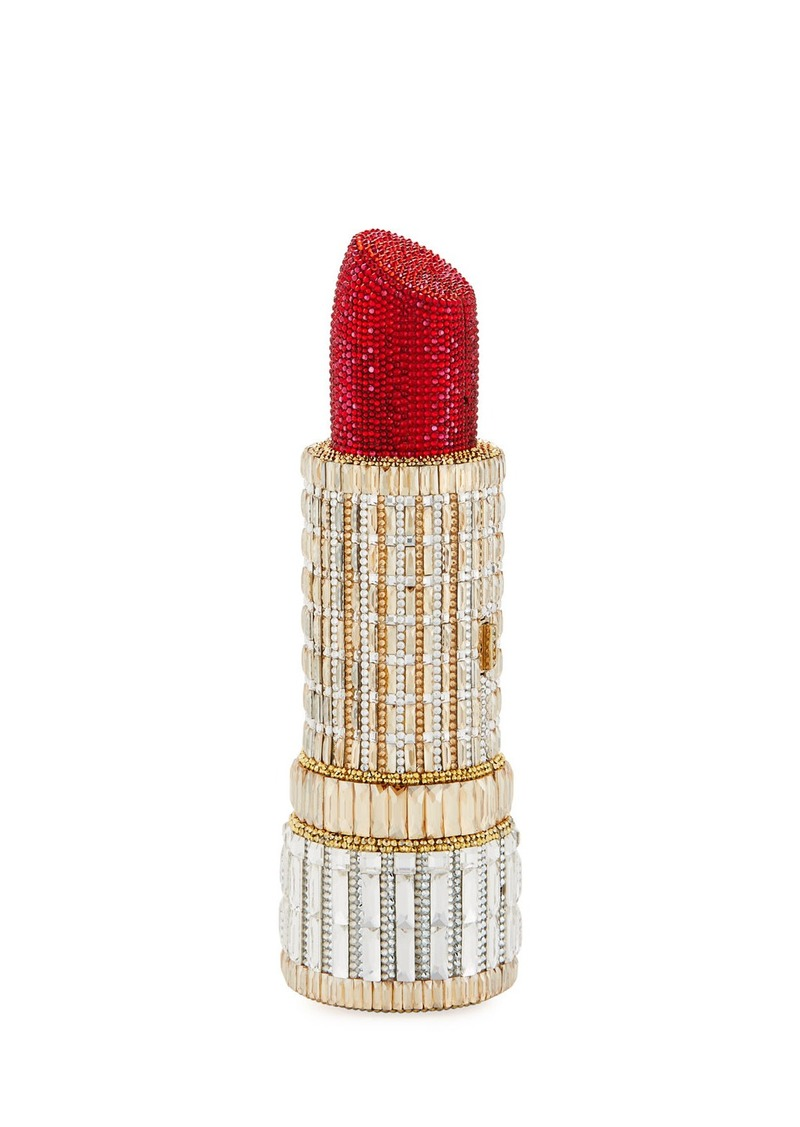 Judith Leiber Seductress Crystal Lipstick Clutch Bag
