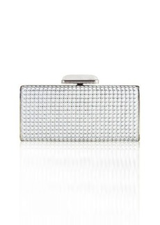 Judith Leiber Soft-Sided Rectangle Clutch with Enamel Dots