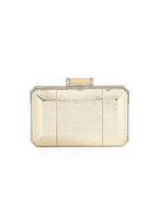 Judith Leiber Soho Snakeskin Box Clutch Bag