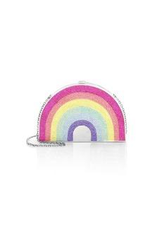 Judith Leiber Swarovski Crystal Rainbow Clutch