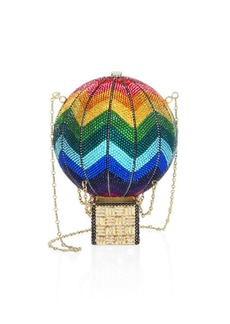 Judith Leiber Swarovski Crystal Rainbow Hot Air Balloon Clutch