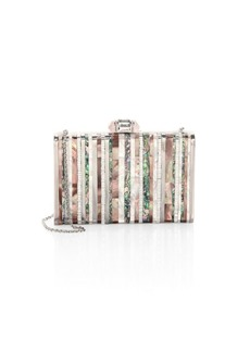 Judith Leiber Tall Slender Shell Striped Abalone Clutch