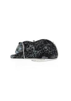 Judith Leiber WIldcat Crystal Box Bag