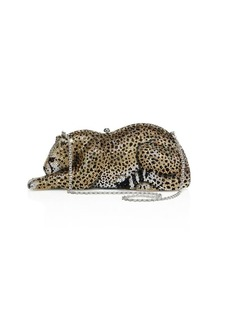 Judith Leiber Wildcat Crystal Box Bag