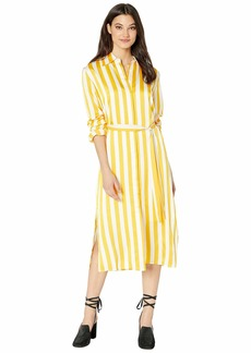 Juicy Couture Awning Stripe Satin Dress