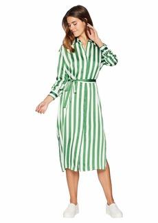 Juicy Couture Awning Stripe Satin Dress