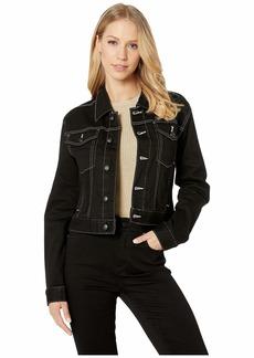 Juicy Couture Black Denim Jacket w/ Contrast Stitching
