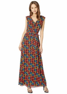 708785f93a Juicy Couture Blocked Floral Maxi Dress