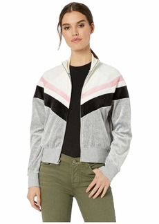 Juicy Couture Color Block Lightweight Velour Palisades Jacket