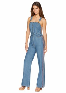 Juicy Couture Denim Multicolor Embroidered Overall