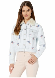 Juicy Couture Denim Wildflower Embroidered Jacket