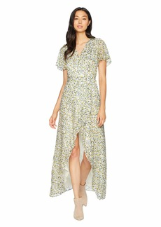Juicy Couture Ditsy Burnout Chiffon Maxi Dress