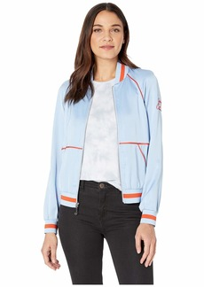 Juicy Couture Duchess Satin Bomber Jacket