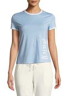 Juicy Couture Embroidered Logo Cotton Ringer Tee