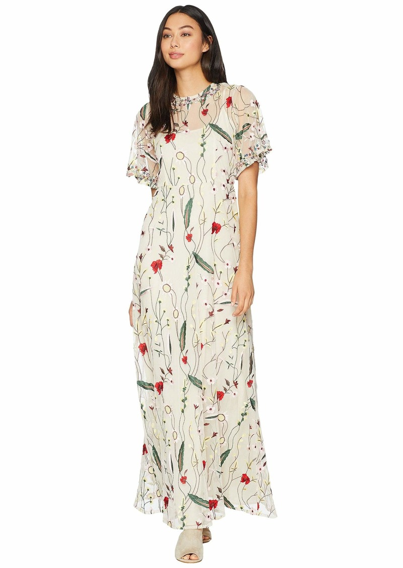 adef7db190e Juicy Couture Embroidered Mesh Maxi Dress