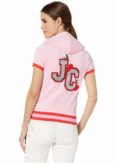 Juicy Couture Encrusted JC Microterry Short Sleeve Robertson