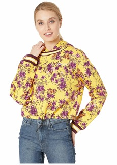 Juicy Couture Etched Floral Cinched Pullover with Hood