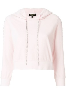 Juicy Couture Exclusive Swarovkski embellished velour hoodie