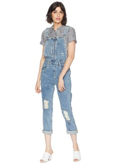 Juicy Couture Floral Embroidered Denim Overall
