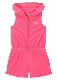 Juicy Couture Girl's Hooded Cotton-Blend Romper