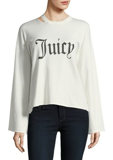 Juicy Couture Gothic Print Long-Sleeve Top