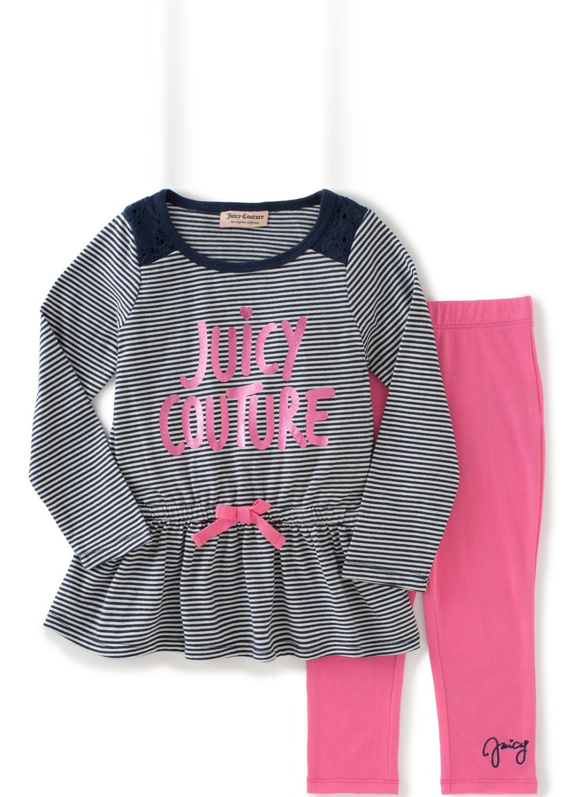 Juicy Couture Baby Girls' Striped Tunic with Solid Legging