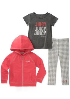Juicy Couture Big Girls' 3 Pieces Jacket Set