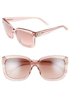 Juicy Couture Black Label 55mm Square Sunglasses
