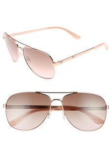 Juicy Couture Black Label 59mm Aviator Sunglasses